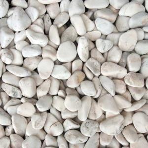 Seixo Rolado Marmore Branco 20*40 (20Kg) Ref.3305