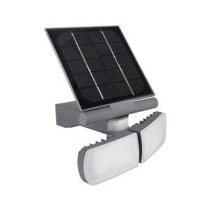 Aplique Led Solar C/Sensor Ajustavel 2*5W 6000K