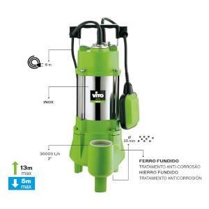 Bomba Submersivel Sumidora 1100W - 1.5Hp Vito