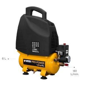 Compressor Sem Oleo 6Lt, 1100W, 1,5Cv, 161L/Min Vito