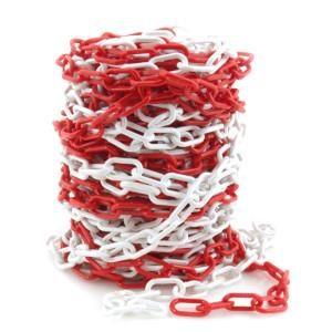 Corrente Plastica Vermelha/Branca 6Mm (Mt)