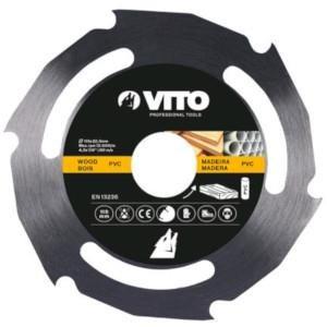 Disco Corte Madeira P/Rebarbadora  Vito